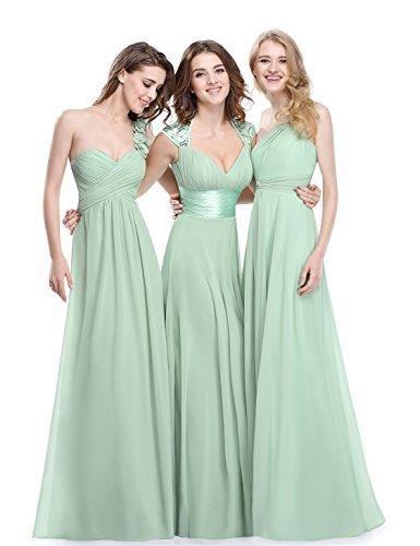 Ever Pretty Damen V-Ausschnitt Lange Chiffon Abendkleider Festkleider 42 Hellviolett EP09672LV10 - 7