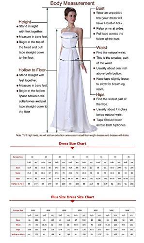 WADAYUYU Damen Elegant Chiffon Einfache Spaghetti Straps Flowy lange Brautjungfer Abendkleider Partykleider Festkleider Tanzenkleider Rosa2 36 - 6