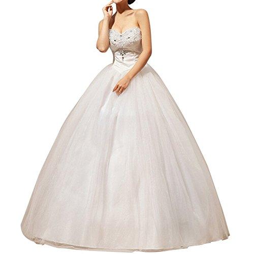 LATH.PIN Bandeau Hochzeitskleid mit Stickerei