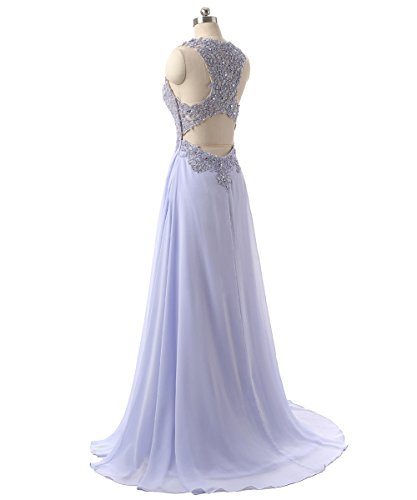 Callmelady Abendkleider Lang Spitze Elegant Ballkleider Damen Abiballkleid 2017 Cocktailkleid (Marineblau, EU44) - 4