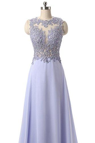 Callmelady Abendkleider Lang Spitze Elegant Ballkleider Damen Abiballkleid 2017 Cocktailkleid (Marineblau, EU44) - 5