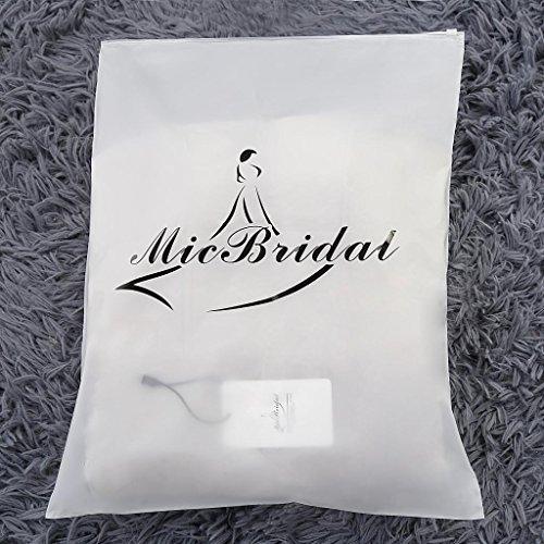MicBridal® Elfenbein Warm Winter Pelz Lang Braut Mantel Bolero Umhang Brautstola Schal Stola für Brautkleid Hochzeitskleid (Standard Größe, Elfenbein) -