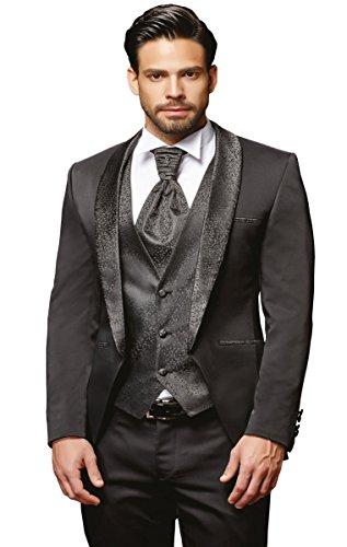 Herren Anzug - 8 teilig - Schwarz Hochzeitsanzug TOP ANGEBOT NEU PC_22 (52)