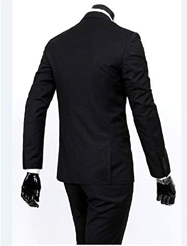 YFFUSHI Herren Anzug 3-Teilig Als Bräutigam Für Business Hochzeit Oder Andere Wichtige Anlässe Schwarz -