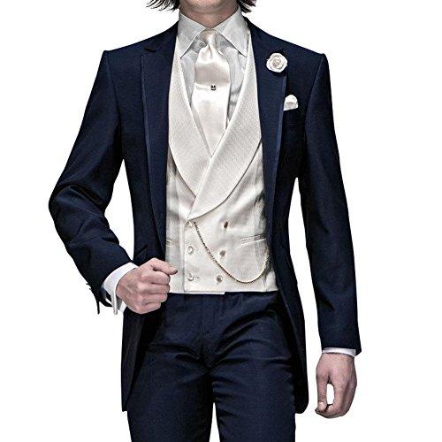 GEORGE Herren Anzug Tuxedos Smokingsakko 2-Teilig Anzug Sakko, Anzug Hose 145, M