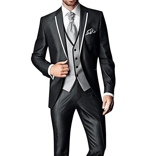 GEORGE Herren Anzug Tuxedos Smokingsakko 2-teilig Anzug Sakko, Anzug Hose 126, M