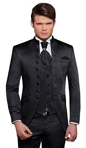 Designer Hochzeitsanzug - 8 teilig - Schwarz Cut Nadelstreifen TOP ANGEBOT NEU