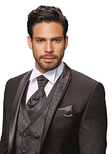 Herren Anzug - 8 teilig - Schwarz Designer Hochzeitsanzug TOP ANGEBOT NEU PC_16 (54) -
