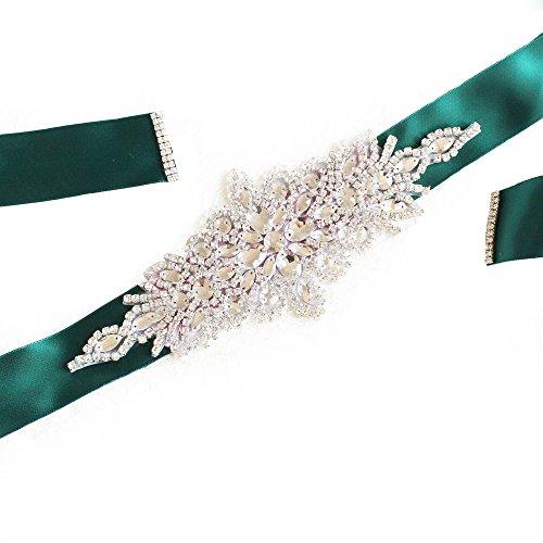 Babeyond Brautkleid Gürtel mit Kristall und Perlen