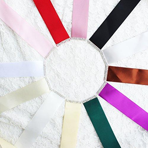 Babeyond Brautkleid Gürtel mit Kristall und Perlen Satin Band Braut Gürtel für Hochzeit Party Damen Tanzball Abschlussball Abendkleid Gürtel (Grün) - 6