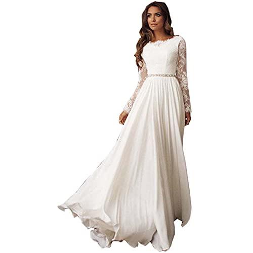 Brautkleid Strandhochzeitskleid, White, L