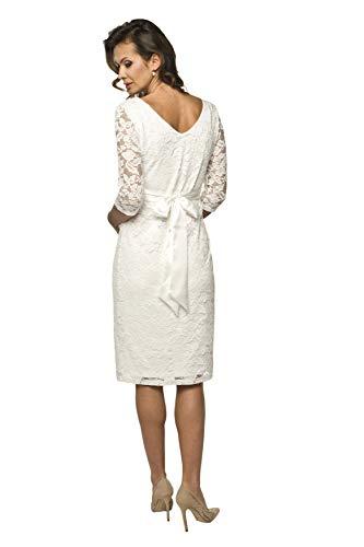 Torelle Damen Umstandskleid Brautkleid für Schwangere, Modell: LACE, 3/4 Arm, Creme, L - 2