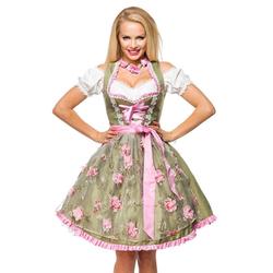Dirndline Dirndl mit Blumenschürze grün/rosa Oktoberfest grün XXL