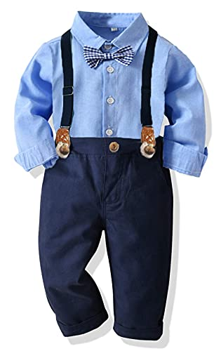 Baby Jungen Bekleidungssets Anzug + Hosenträger Fliege Krawatte