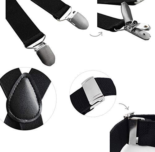 axy® Vater-Sohn Partnerlook Hosenträger mit Fliege Set für Herren-Damen-Kinder (Beige (Herren 2,5cm + Kinder Hosenträger Breit 2,5cm)) - 9