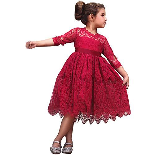 Blumenmädchen Hochzeitskleid 6-7 Jahre Größe(140) 481 Rot