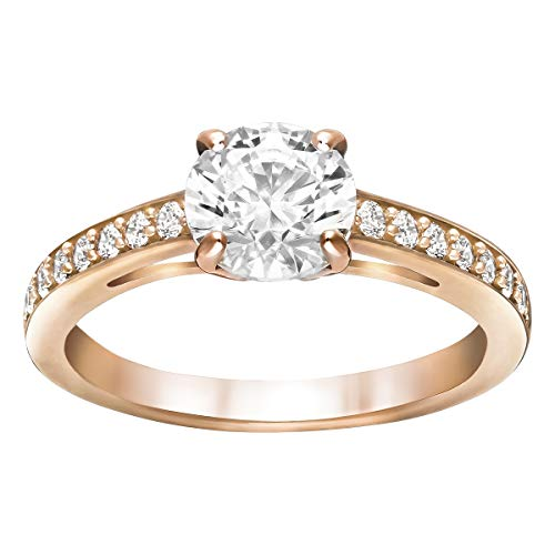 SWAROVSKI Damen-Ringe Edelstahl Kristall '- Ringgröße 58