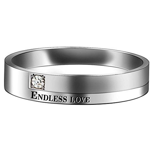 Partnerringe, Eheringe, Verlobungsringe, Titanstahl, endlose Liebe, Vintage Ringe für Sie und Ihn - 2