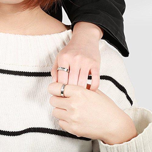 Partnerringe, Eheringe, Verlobungsringe, Titanstahl, endlose Liebe, Vintage Ringe für Sie und Ihn - 4