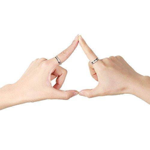 Partnerringe, Eheringe, Verlobungsringe, Titanstahl, endlose Liebe, Vintage Ringe für Sie und Ihn - 6