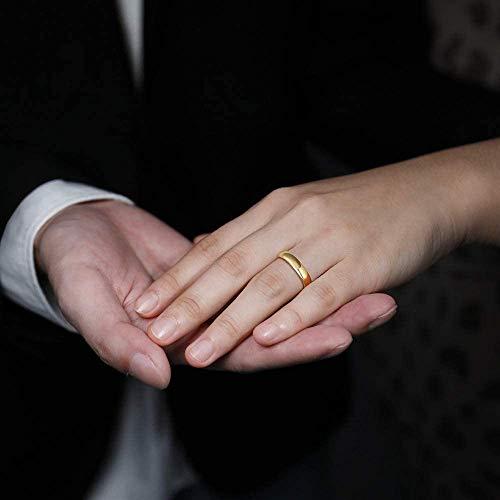 Zakk Ring Damen Herren 2mm 4mm 6mm 8mm Gelbgold Wolfram Poliert Schmal Ringe Verlobungsringe Ehering Hochzeitsband (4mm, 58 (18.5)) - 5