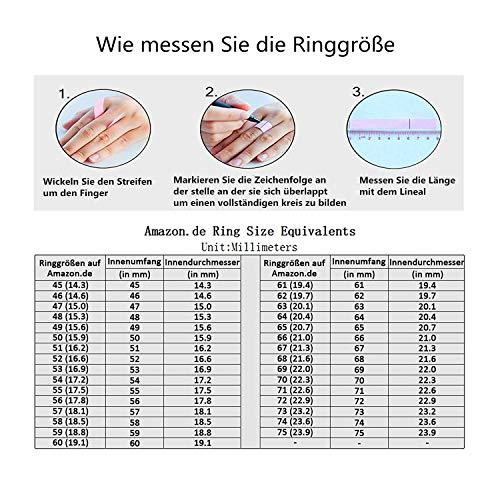 Zakk Ring Damen Herren 2mm 4mm 6mm 8mm Gelbgold Wolfram Poliert Schmal Ringe Verlobungsringe Ehering Hochzeitsband (4mm, 58 (18.5)) - 7