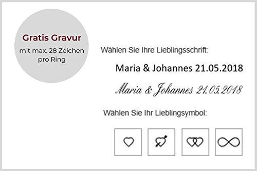 123traumringe 2x Trauringe/Eheringe Silber 925 in Juwelier-Qualität (Gravur/Ringmaßband/Etui/Nickelfrei/ohne Stein) - 5