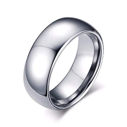 Herren-Ehering aus Wolframcarbid, glänzend, 8 mm, für Herren, Roségold