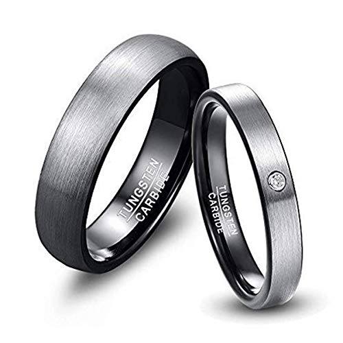 Herren-Ring Wolframcarbid Außenbreite 6mm bequem