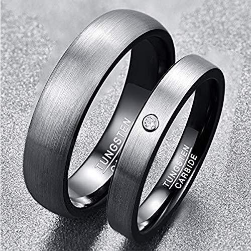 NUNCAD Herren-Ring Wolframcarbid Außenbreite 6mm bequem, Men Fashion Schmuck Ehering Verlobungsring Freundschaftsring Lifestyle-Ring Größe 63(20.1) - 2