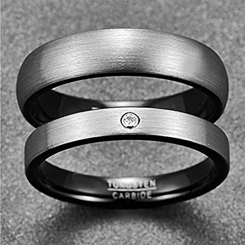 NUNCAD Herren-Ring Wolframcarbid Außenbreite 6mm bequem, Men Fashion Schmuck Ehering Verlobungsring Freundschaftsring Lifestyle-Ring Größe 63(20.1) - 3
