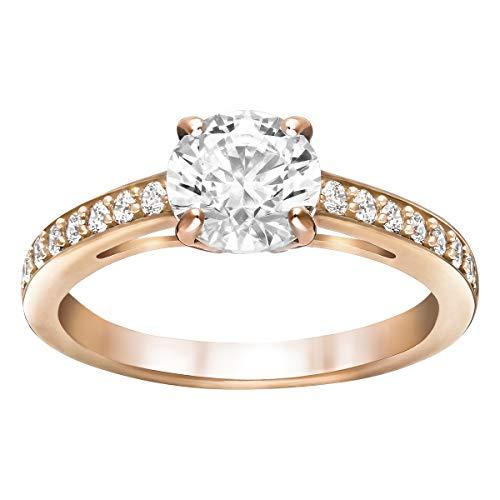 SWAROVSKI Damen-Ringe Edelstahl Kristall '- Ringgröße 52