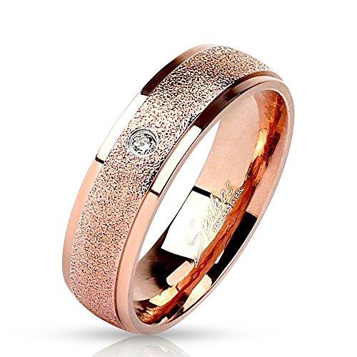Bungsa® 57 (18.1) Rosegold Ring mit Stein Zirkonia