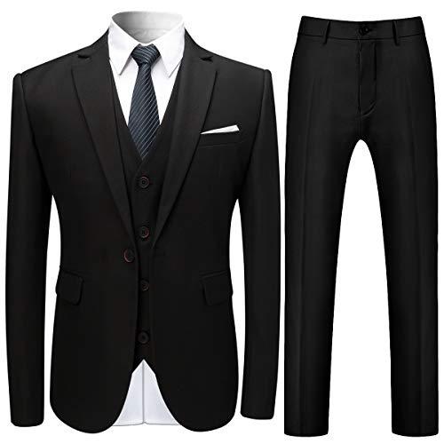 Anzug Herren Anzug Slim Fit 3 Teilig Hochzeit