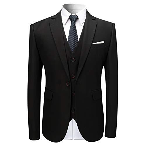 Anzug Herren Anzug Slim Fit 3 Teilig Herrenanzug 3-Teilig Anzüge Herren Modern Sakko für Business Hochzeit - 2