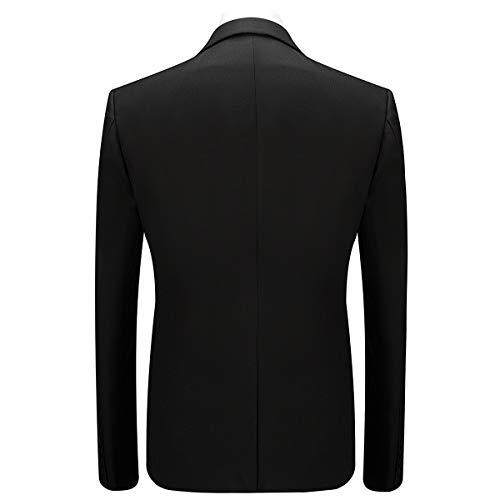 Anzug Herren Anzug Slim Fit 3 Teilig Herrenanzug 3-Teilig Anzüge Herren Modern Sakko für Business Hochzeit - 3