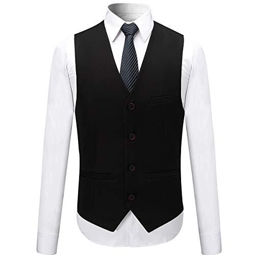 Anzug Herren Anzug Slim Fit 3 Teilig Herrenanzug 3-Teilig Anzüge Herren Modern Sakko für Business Hochzeit - 4