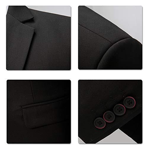 Anzug Herren Anzug Slim Fit 3 Teilig Herrenanzug 3-Teilig Anzüge Herren Modern Sakko für Business Hochzeit - 6