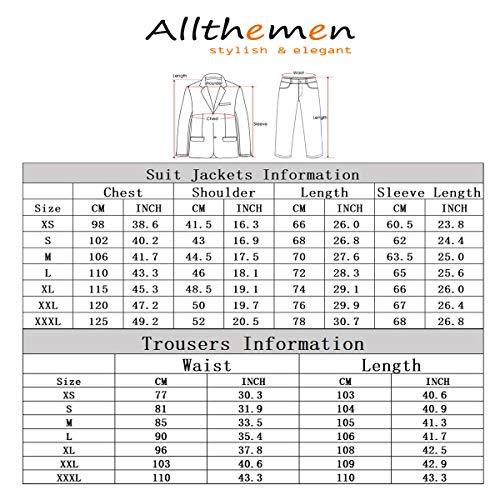 Anzug Herren Anzug Slim Fit 3 Teilig Herrenanzug 3-Teilig Anzüge Herren Modern Sakko für Business Hochzeit - 7