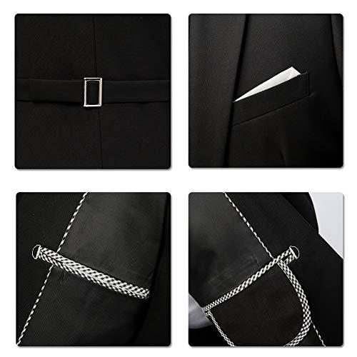 Anzug Herren Anzug Slim Fit 3 Teilig Herrenanzug 3-Teilig Anzüge Herren Modern Sakko für Business Hochzeit - 9