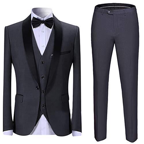 Herren Anzug 3 Teilig Slim Fit