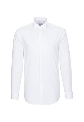 Seidensticker Herren Smoking Hemd, Weiß, 40
