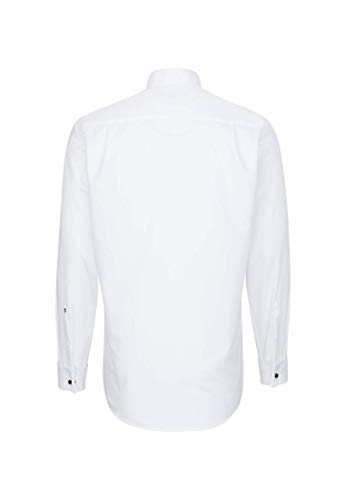 Seidensticker Herren Smoking Hemd, Weiß (01 Weiß), 40 - 2