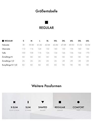 Seidensticker Herren Smoking Hemd, Weiß (01 Weiß), 40 - 6