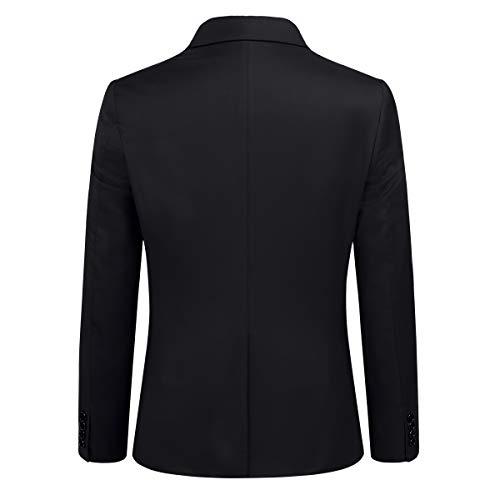 Anzug Herren Slim Fit 3 Teilig Anzüge Modern Herrenanzug 3-Teilig Sakko Hose Weste für Business - 2