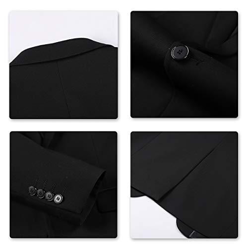 Anzug Herren Slim Fit 3 Teilig Anzüge Modern Herrenanzug 3-Teilig Sakko Hose Weste für Business - 4