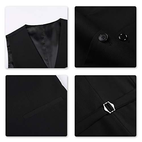 Anzug Herren Slim Fit 3 Teilig Anzüge Modern Herrenanzug 3-Teilig Sakko Hose Weste für Business - 5