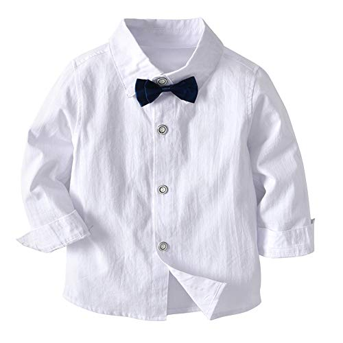 amiyan Baby Jungen Bekleidungsset Gentleman Anzug Kleinkinder Taufe Hochzeit Weihnachten Sakkos Anzüge Fliege Spielanzug Hemd+Hose+Weste Grau 3 Jahre - 5