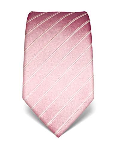 Vincenzo Boretti Herren Krawatte reine Seide Hochzeit 8 cm schmal/breit rosa
