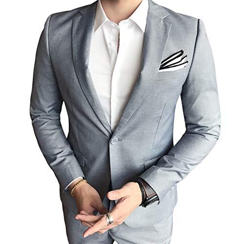 Allthemen Hochzeitsanzug Herren Anzug Slim Fit Herrenanzug Anzüge für Hochzeit Business Party - 3